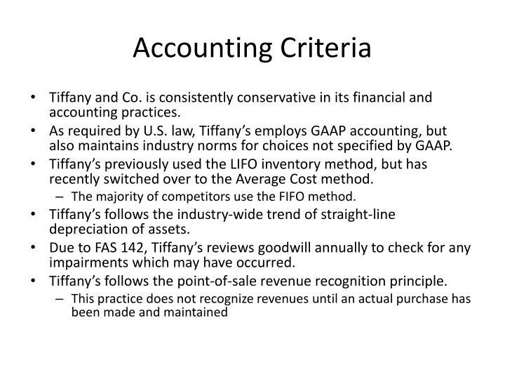 Accounting Criteria