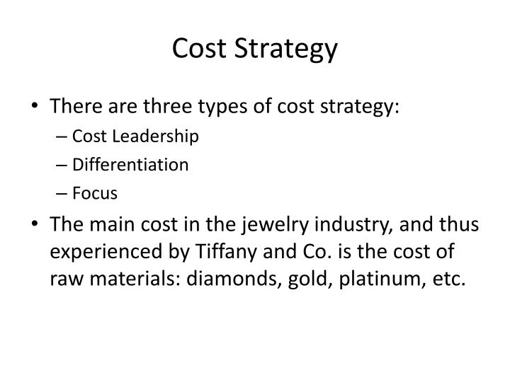 Cost Strategy