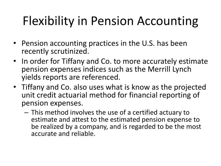 Flexibility in Pension Accounting