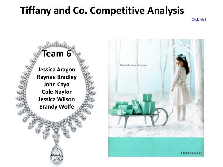 Tiffany and co competitive analysis