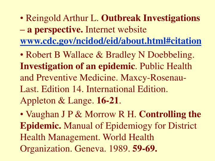 Reingold Arthur L.