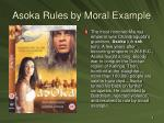 asoka rules by moral example