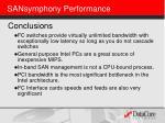 sansymphony performance
