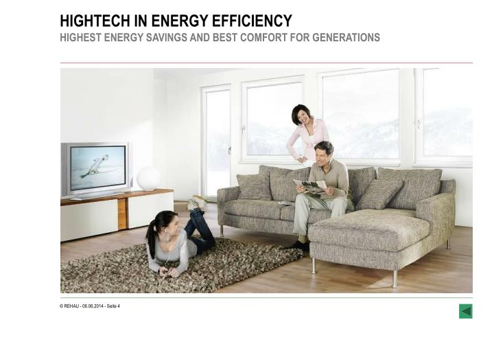 HIGHTECH IN ENERGY EFFICIENCY