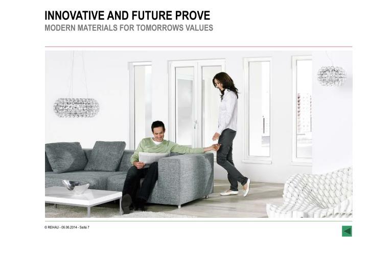 INNOVATIVE AND FUTURE PROVE