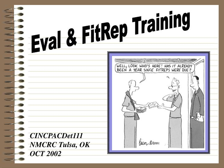 Eval & FitRep Training