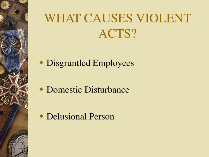 WHAT CAUSES VIOLENT ACTS?