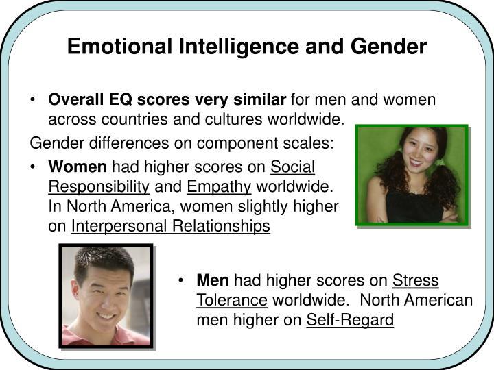 Emotional Intelligence and Gender
