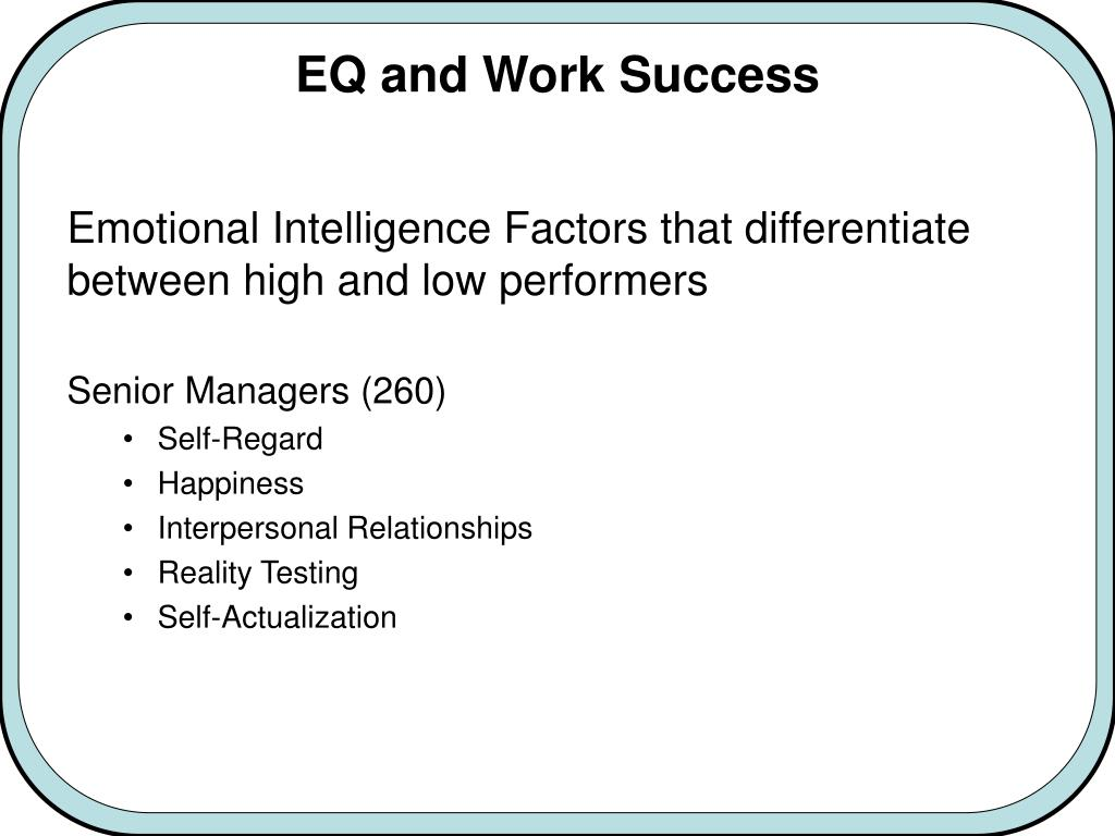 "PPT - Exploring the Role of ""Emotional Intelligence"" in"
