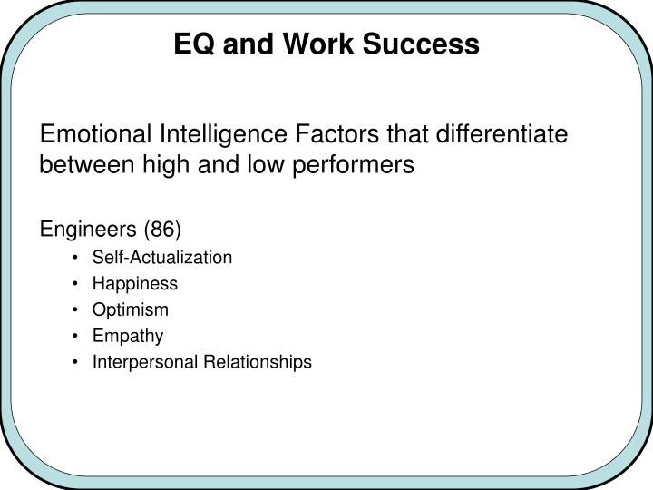 EQ and Work Success