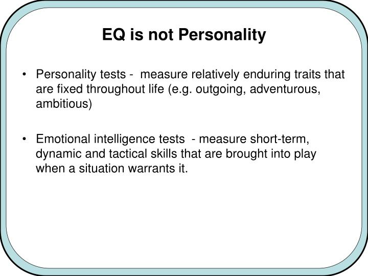 EQ is not Personality