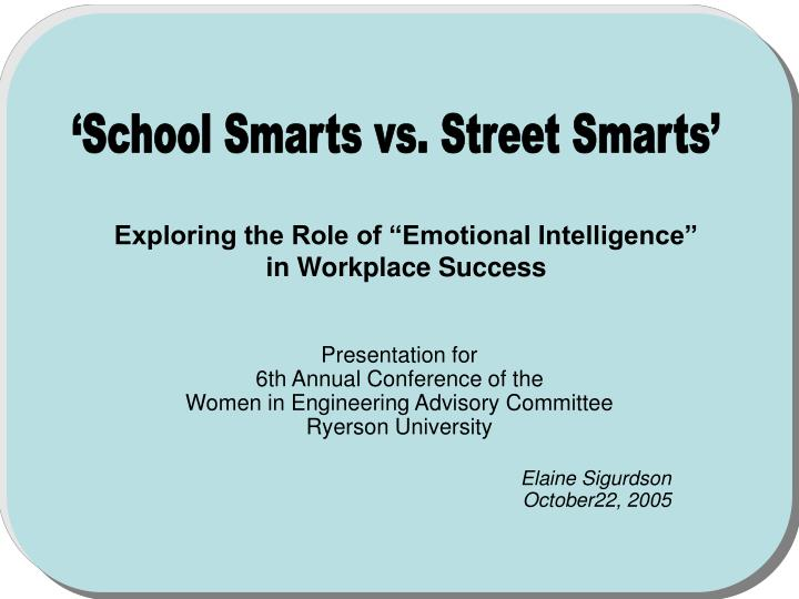 Exploring the role of emotional intelligence in workplace success