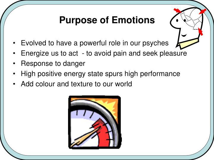 Purpose of emotions