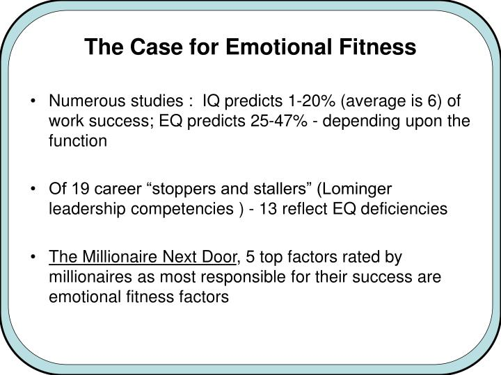 The Case for Emotional Fitness