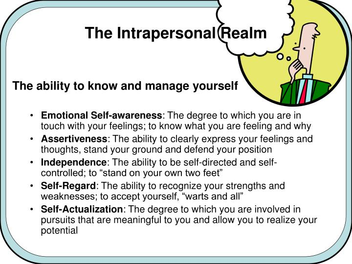 The Intrapersonal Realm