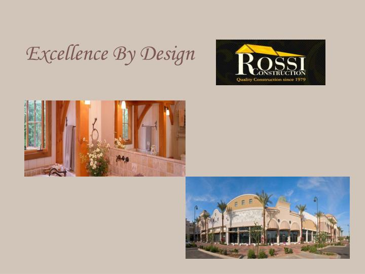 excellence by design n.