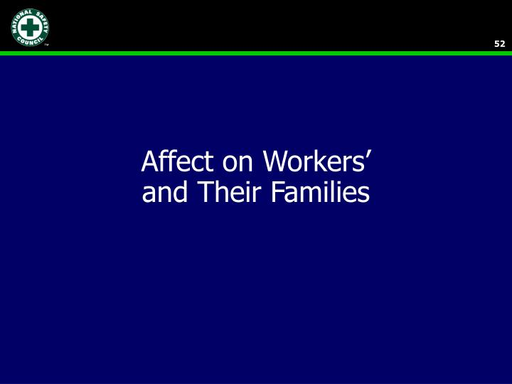 Affect on Workers'