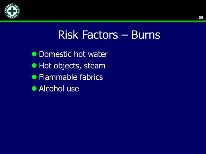 Risk Factors – Burns