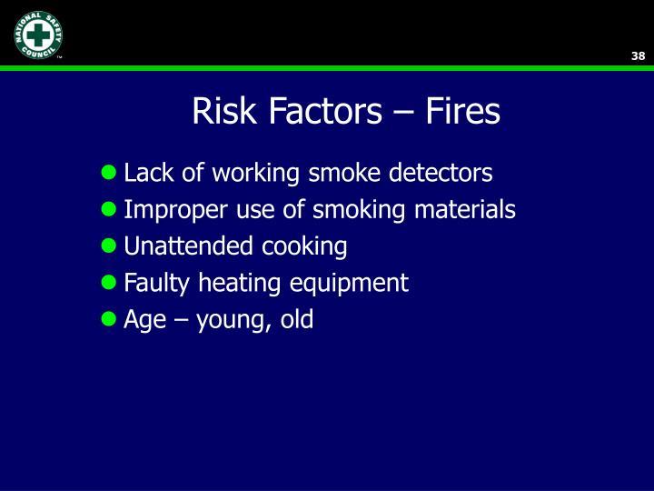 Risk Factors – Fires
