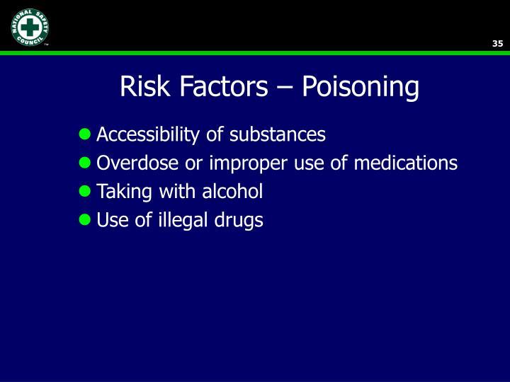 Risk Factors – Poisoning
