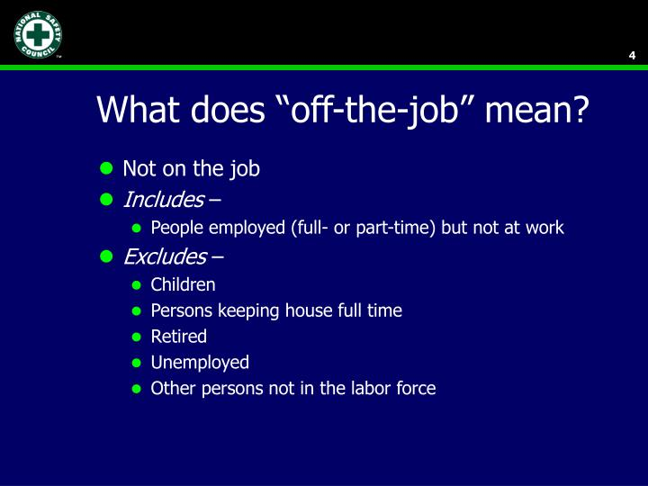 """What does """"off-the-job"""" mean?"""