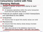 concurrency control with time stamping methods