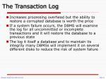 the transaction log1