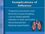 complications of influenza