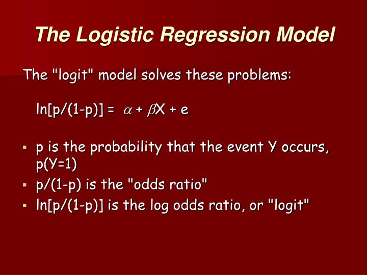The Logistic Regression Model