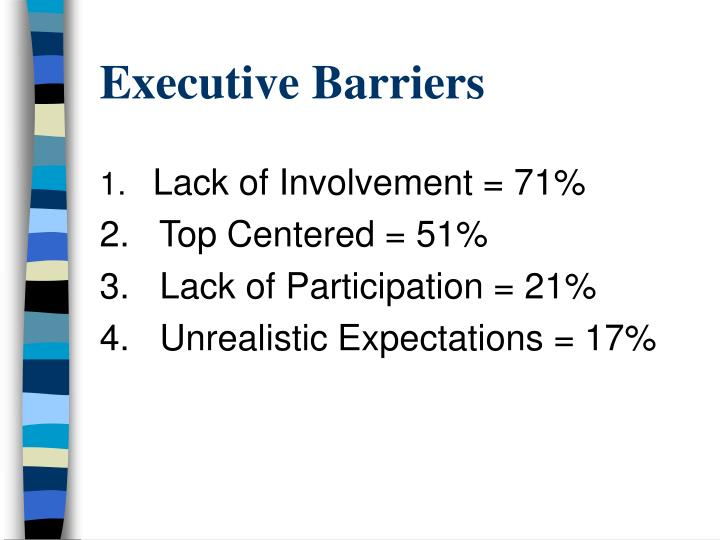 Executive Barriers