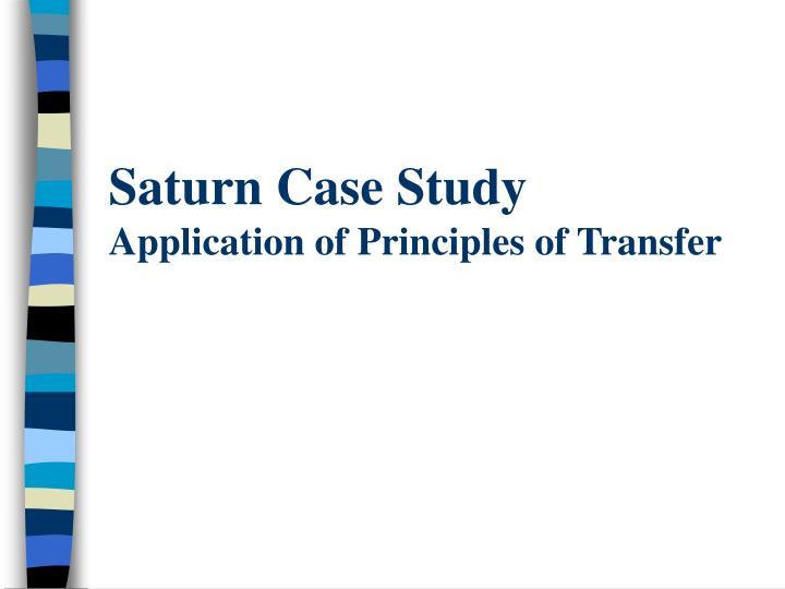Saturn Case Study