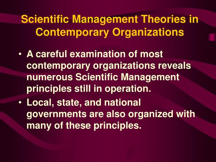 Scientific Management Theories in Contemporary Organizations