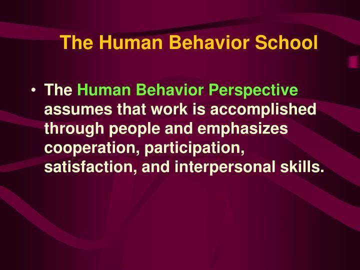 The Human Behavior School