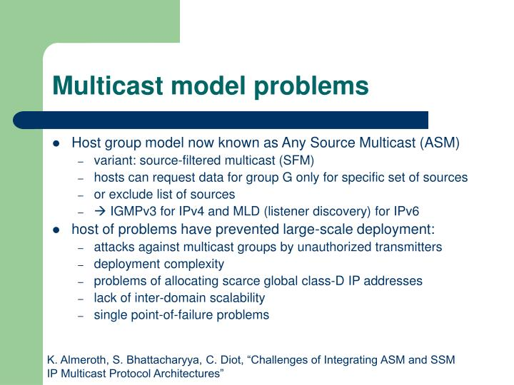 Multicast model problems
