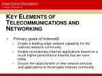k ey e lements of t elecommunications and n etworking4