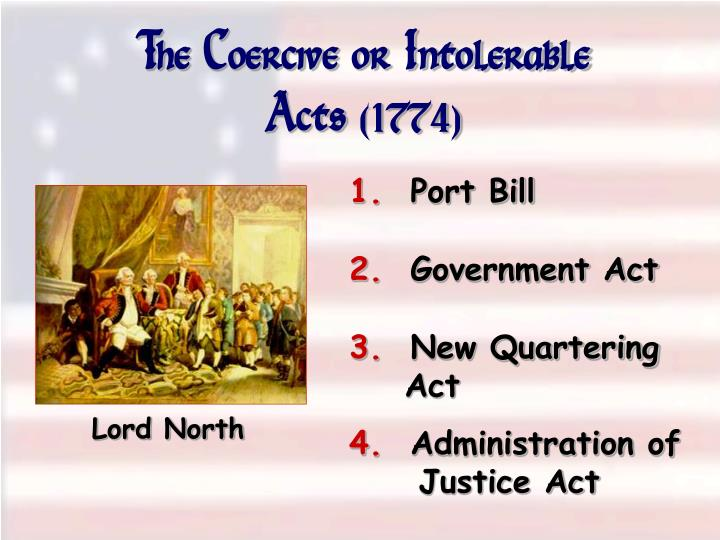 The Coercive or Intolerable