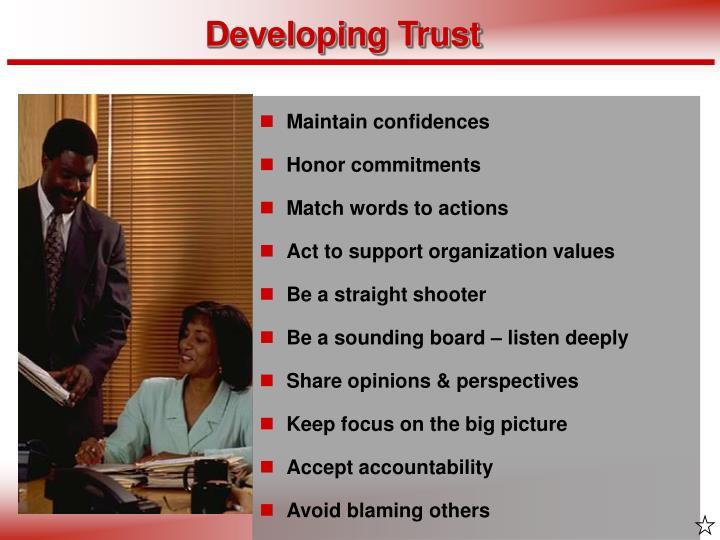 Developing Trust