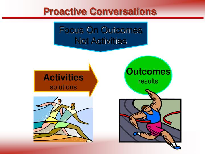Focus On Outcomes Not Activities
