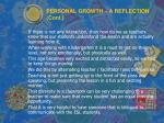personal growth a reflection cont