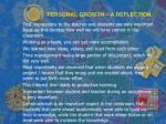 personal growth a reflection