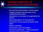 characteristics of business re engineering