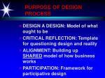 purpose of design process
