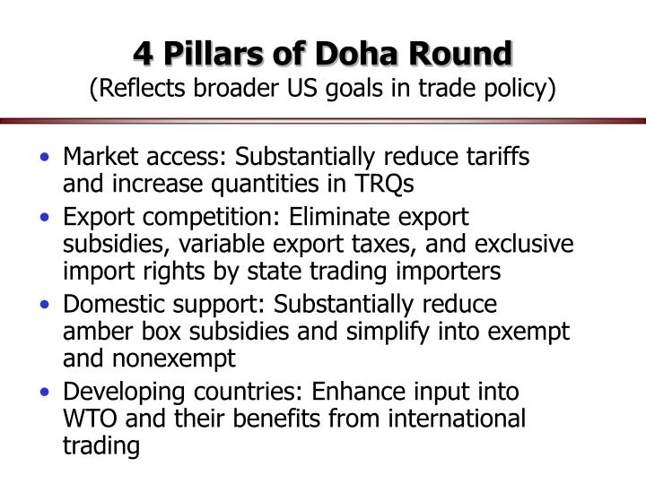 4 Pillars of Doha Round
