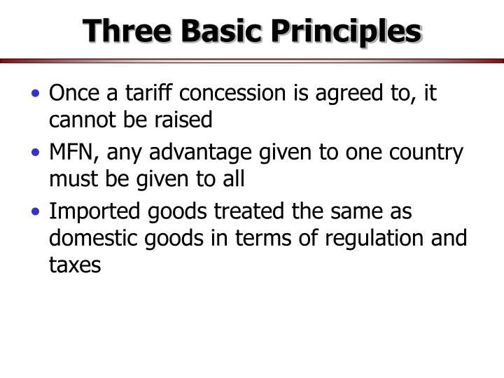 Three basic principles