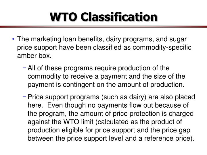 WTO Classification