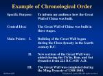 example of chronological order