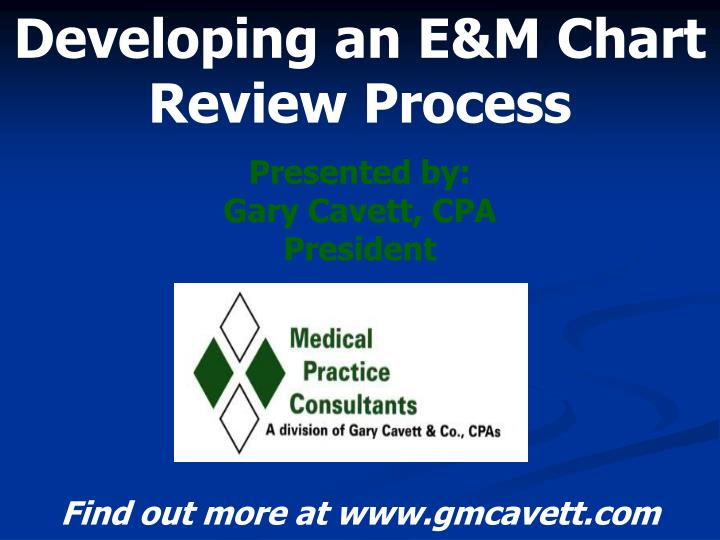 developing an e m chart review process n.
