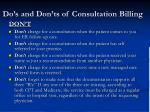 do s and don ts of consultation billing1