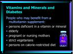 vitamins and minerals and diabetes1