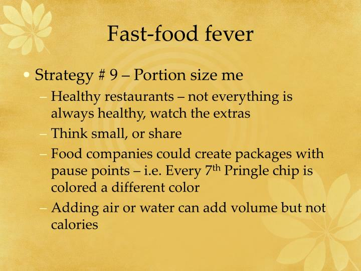 Fast-food fever